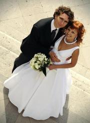 Свадебное платье как у принцессы! р.40-42